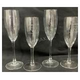 (4) Wine Glasses