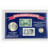 Silver Presidents Collection coin and stamp set: