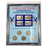 John F Kennedy Commemorative Stamp & Coin