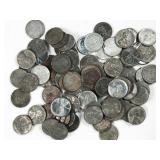 92pc assorted 1943 steel Lincoln wheat pennies -