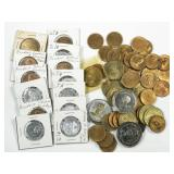 63pc assorted Presidential commemorative tokens