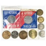 10pc assorted sports related commemorative tokens