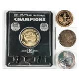 4pc University of Alabama commemorative tokens