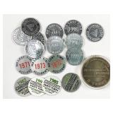 18pc Alabama Power No Lost Time tokens