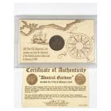Admiral Gardner 1809 shipwreck coin