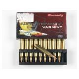 204 Ruger, box of 20rds Hornady Varmint V-Max,