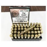 233/5.56, box of 50rds LMMG Munitions, 55gr, full