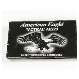 223 Rem, box of 20rds American Eagle Tactical