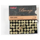9mm Luger, box of 50rds PMC Bronze, 115 grain,