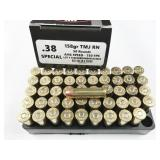 38 Special, box of 50rds LMMG Munitions, 55gr,