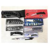 4pc folding knives in boxes