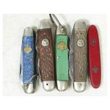 5pc Boy and Girl Scout knives