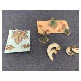 earrings and pin sets