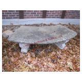 3 pc Concrete bench 52x20 & 2 planters 15.5x20