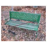 """2 wood/metal park benches 50"""" & approx 10 pcs"""