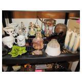 23 pcs: statues, cups, tins, decor bowls, cookie