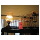 4 pcs: 3 vases & 1 lamp