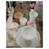 17 pcs: Mixed glassware (see pics)
