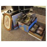 1 flat & 2 boxes mixed pictures & frames