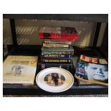14 John F Kennedy pcs: books, plate & Life