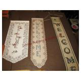 6 Holiday & Welcome wall tapestries