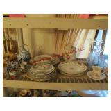 Approx 26pcs mixed plates, teacups, saucers,
