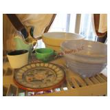 7 pcs mixed pottery ( 1 pc is Haeger)