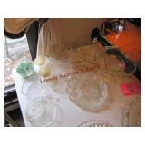 14 pcs mixed glassware: egg plates, dessert cups,