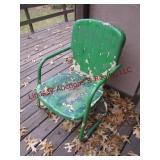 Retro metal patio chair