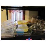 14 pcs Pyrex & 5 pc glass cannister set