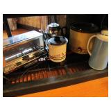 Toaster oven, coffee pot, beverage warmer,