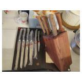 2 - knife sets (6 pc handmade) &