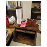 Wooden bread box, napkin holder & paper towel
