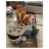 7 pcs: cookie jar, cups & other