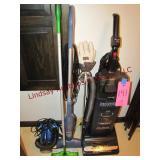 Hoover vacuum, Bissell elec broom Swifter &