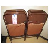 8 metal folding chairs w/ cloth seats