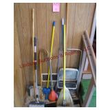 Group misc brooms & Cosco step stool