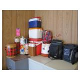 12 - various coolers & thermoses (2 - vintage,
