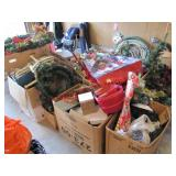 Approx 12+ LARGE boxes Christmas decor, wreaths,