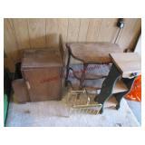 4 wood side tables 12x9x27, 22x11.5x24, 20x10.5x28