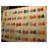 Machined quilt 82x70 (good shape)