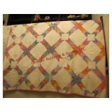 Machined quilt (some tears) approx 71x71