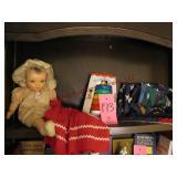 Group w/ vintage doll, doll dress, USA & Kansas