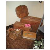 5 pc luggage set Samsonite & Escort (brown)