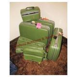6 pc luggage set Samsonite (green)