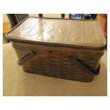 Metal picnic basket w/ 2 handles
