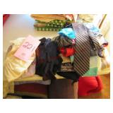 Group of ties, scarves & other