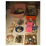 9 SMALL boxes of mixed costume jewelry