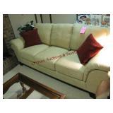 """Guardsman 3 cushion leather sofa 87"""""""