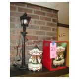 Plastic street lamp & carousel